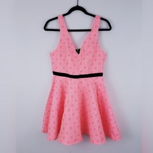 Dolce Vita Hot Pink Floral Dress with Cut Out Back